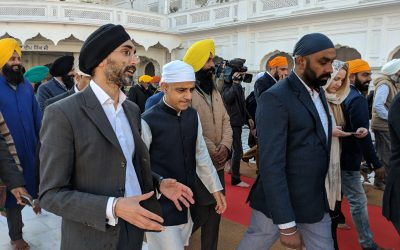 Mayor of London and Chair of City Sikhs visits Harmandir Sahib and Jallianwala Bagh in Amritsar