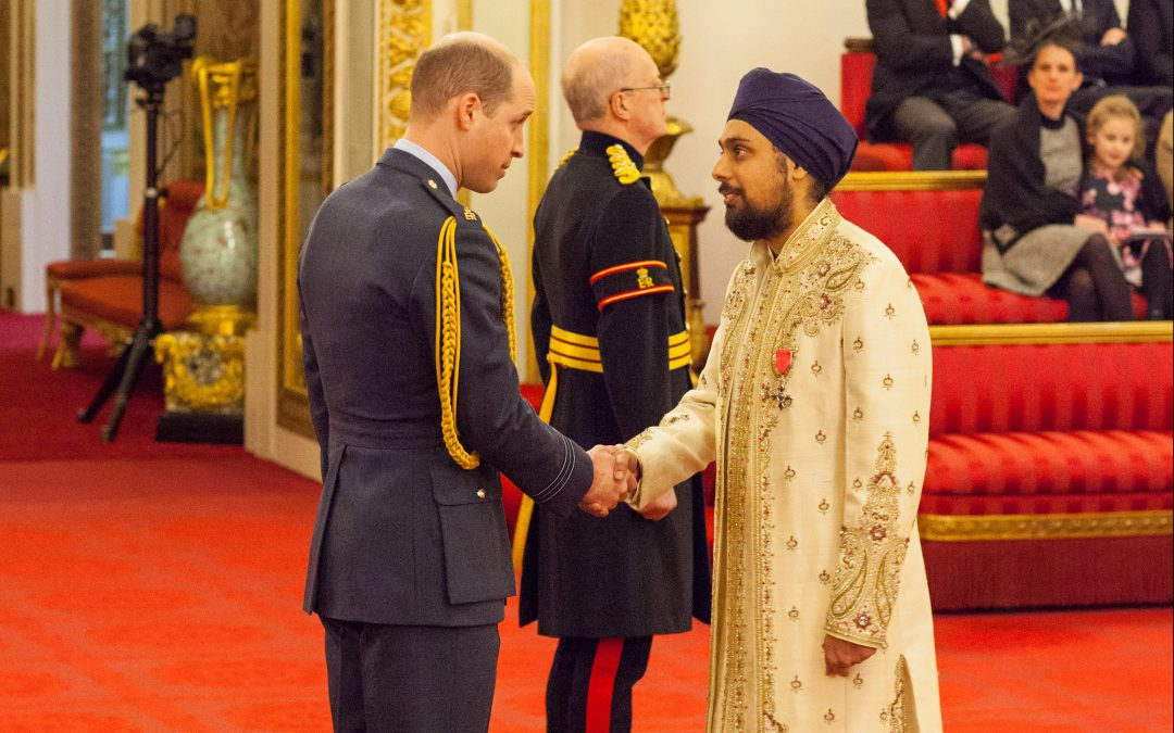 Founding Trustee of City Sikhs, Onkardeep Singh,  receives MBE