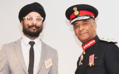 Param Singh, Deputy Chair of City Sikhs, named 'Inspirational Individual' at the London Faith & Belief Community Awards 2018