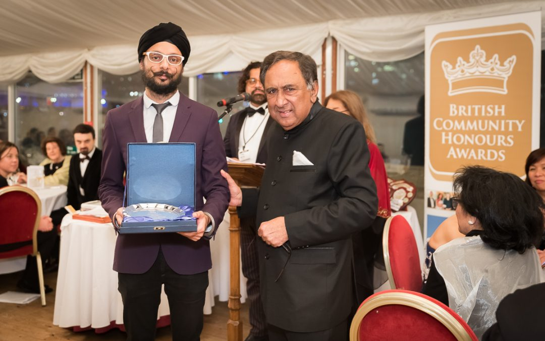 Param Singh MBE, City Sikhs Trustee, receives the British Community Honours Award