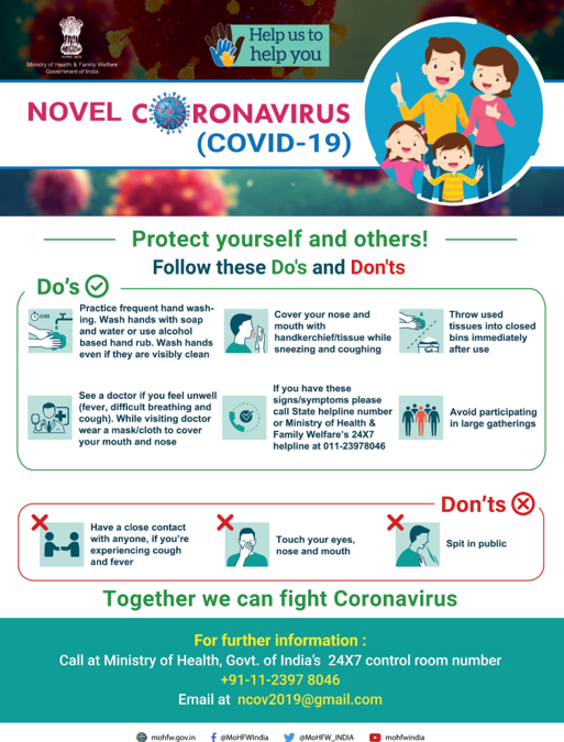 Coronavirus (COVID-19) update for gurdwaras – India – correct as of 6th March 2020